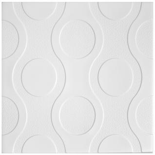 1 qm Deckenplatten Polystyrolplatten Stuck Decke Dekor Platten 50x50cm Nr.98