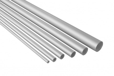 2 Meter   Rundrohr   Alu  eloxiert   belastbar   Effector   B40-B45