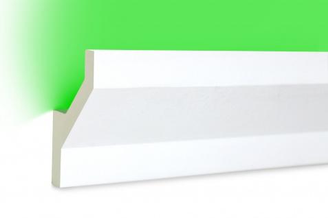 2 Meter LED Profil PU Stuck indirekte Beleuchtung stoßfest Hexim 75x45mm LED-10