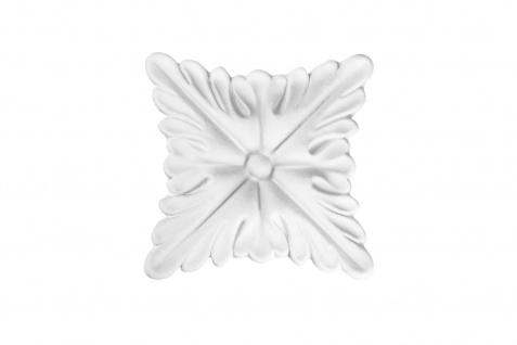 1 PU Dekorelement Stuckdekor Ornament stoßfest Hexim 100x100 mm FR5335