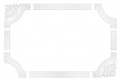 Wand- und Deckenumrandung   Fries   Stuck   Rahmen   stoßfest   AC214