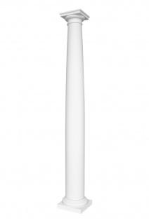 Säulen Halbsäulen rund glatt Komplett Stuckdekor Barock PU Auswahl 203mm N3020