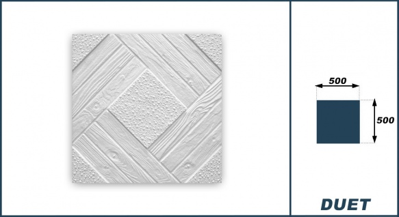 Sparpaket Deckenplatten Polystyrolplatten Stuck Decke Dekor Platten 50x50cm Duet - Vorschau 3