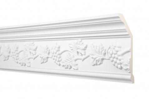 2 Meter Zierprofil 175x70mm - Stuckleiste aus PU gemustert, stoßfest - Perfect AA097