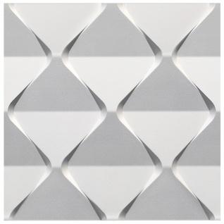 1 PS Platte 3D Paneele Wand Decke Dekor Dekoration Sparpaket 60x60cm Hexim Harmony