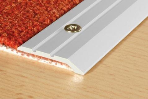 0, 9 Meter Abschlussleiste Aluminium eloxiert stoßfest Effector 30x3mm A01