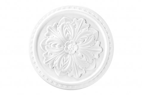 1 Rosette Deckenrosette Stuck Dekorrosette Sparpaket hart Polystyrol 42cm DR13
