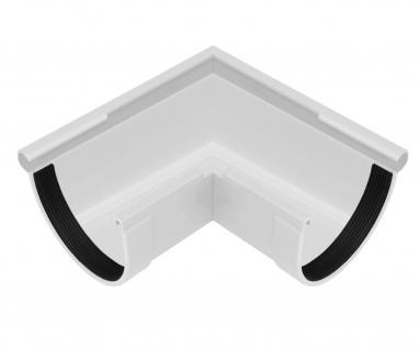 PVC RainWay Regenrinnensystem Regenwasser stoßfest Regenrinne Eckstück außen 90° - Vorschau 4