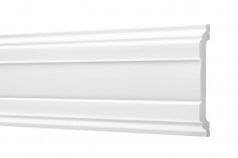 2 Meter Flachleisten HXPS Zierleisten Ecopolimer stoßfest hart Cosca 16x80mm CM7