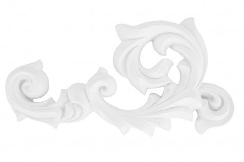 1 Ornament Dekorelement PU Stuckdekor Innen Wanddekor stoßfest 165x298mm, A638L/R