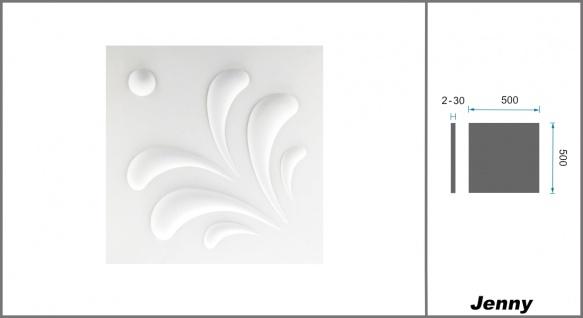 1 qm 3D Platten Natur Stuck ökologisch Paneele 3D Elite Panels 50x50cm Jenny - Vorschau 2
