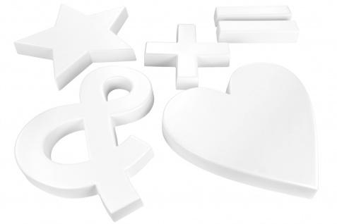 3D Zeichen PU Alphabet 20cm Wand Dekor Sonderzeichen Schrift Design-Schriftzüge