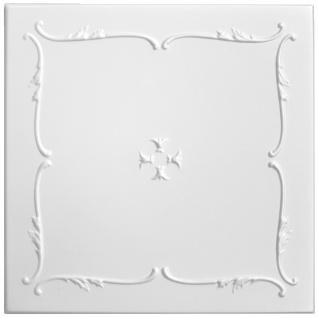 1 qm Deckenplatten Polystyrolplatten Stuck Decke Dekor Platten 50x50cm Nr.12