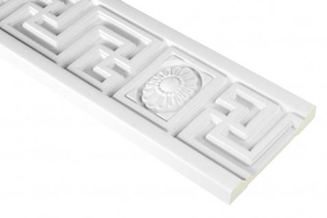 2 Meter PU Flachleiste Profil Innen Dekor stoßfest Hexim 110x20mm | FH9416