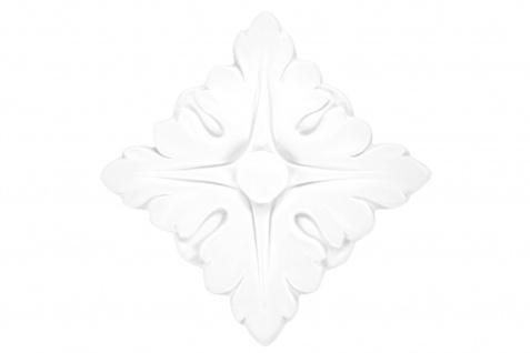 1 Ornament Dekorelement PU Stuckdekor Innen Wanddekor stoßfest 100x100mm, A624