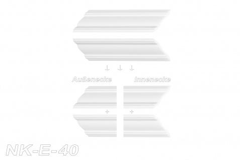 Stuckleisten inkl. Eckprofile XPS Dekor stabil 45x45 Marbet Sparpaket E-40-NK - Vorschau 3