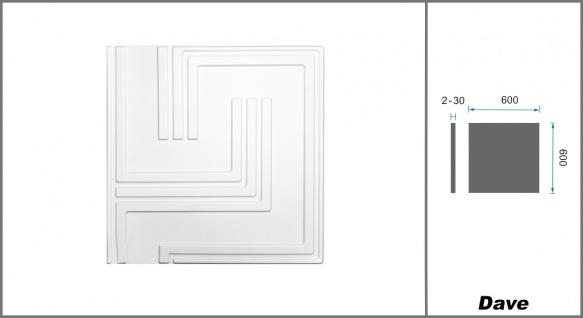 1 qm 3D Platten Natur Stuck ökologisch Paneele 3D Elite Panels 60x60cm Dave - Vorschau 2