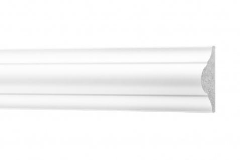 2 Meter Flachleisten HXPS Zierleisten Ecopolimer stoßfest hart Cosca 17x40mm CM2