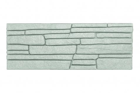 Dekorsteine Steinoptik Wandplatten Styroporplatten Verblender 48x18cm Rock grau