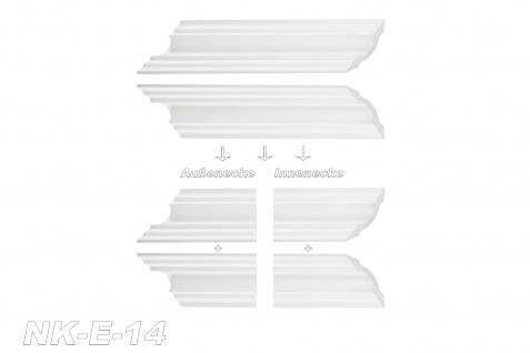 Stuckleisten inkl. Eckprofile XPS Dekor stabil 50x50 Marbet Sparpaket E-14-NK - Vorschau 3