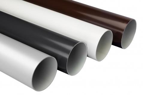2 Meter PVC RainWay90 Regenrinnensystem Regenwasser stoßfest Regenrinne Fallrohr