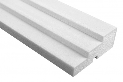 Fassade Außenstuck Gesims mit Ausprägung EPS PU stoßfest 45x120mm Sparpaket MC157