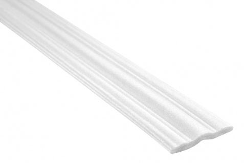 2 Meter | Flachprofil Polystyrolleiste Wandleiste | Hexim | 58x9mm | M-09