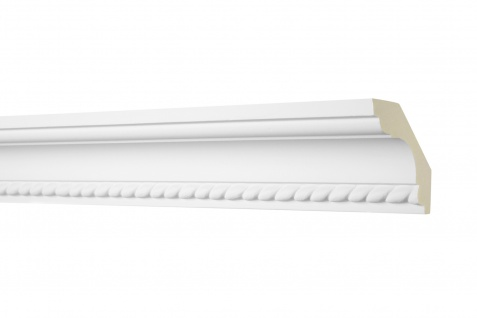 2M Zierprofil 60x60mm - Stuckleiste aus PU gemustert, stoßfest - Perfect AA005