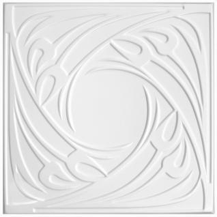1 qm Deckenplatten Polystyrolplatten Stuck Decke Dekor Platten 50x50cm Nr.71