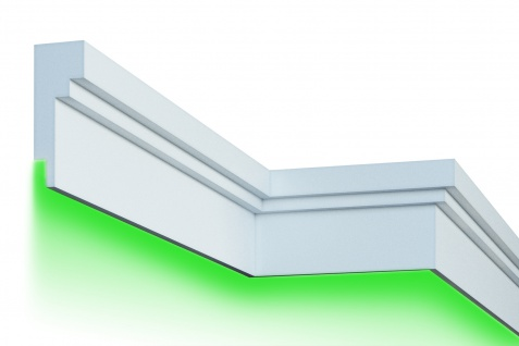 Fassade LED Stuck EPS PU Fassadenleisten wetterfest 80x210mm Sparpaket KC303