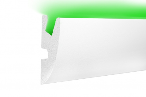 1, 15 Meter LED Profil XPS Stuck Trockenbau Tesori 95x45mm KD304
