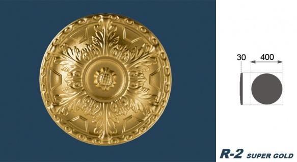 1 Rosette | Decke Stuck Innendekor EPS Dekor Marbet Durchmesser 40cm R-2 - Vorschau 5