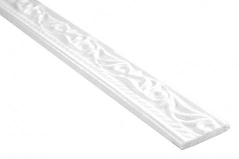 2 Meter Flachprofil Polystyrolleiste Profile Bordüre Hexim 8x45mm M-010