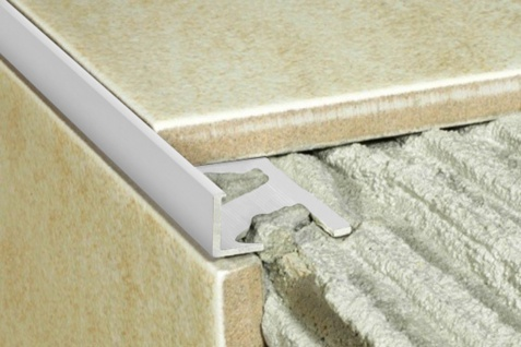 2 Meter Rand Fliesenleiste Alu Treppenleiste eloxiert rostfrei 20x12mm A52