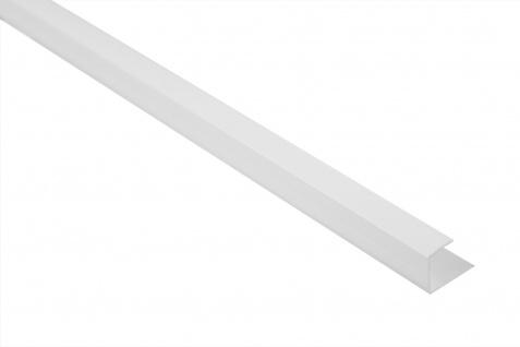 U-Profil Aufnahme Abschlussleiste 12, 5mm PVC weiß Lemal PT5, 2 Meter