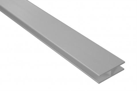 2 Meter H-Profil Alu eloxiert stoßfest rostfrei belastbar 40x12mm Effector B91