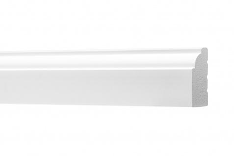 2 Meter Flachleisten HXPS Zierleisten Ecopolimer stoßfest hart Cosca 16x29mm CM4