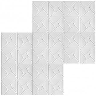 1 qm Deckenplatten Polystyrolplatten Stuck Decke Dekor Platten 50x50cm Nr.80 - Vorschau 3