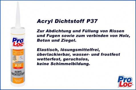 1 Kartusche Acryl Dichtungsmasse Füllstoff witterungsbeständig ProLoc P37 - Vorschau 2