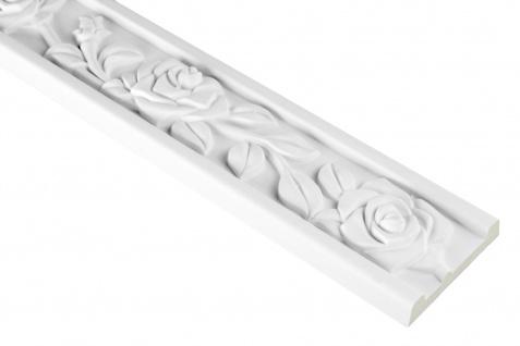 2 Meter | PU Flachleiste Profil Innen Dekor stoßfest | Hexim | 66x16mm | FH9489