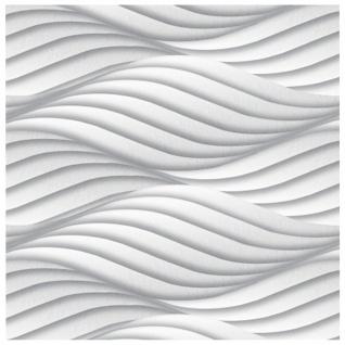 1 PS Platte 3D Paneele Wanddekoration Decke Dekoration Sparpaket 60x60cm Hexim Wind