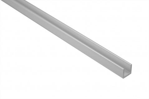 2 Meter Bastlerleiste U-Profil Rostfrei Alu Eloxiert Effector 10x10mm B30