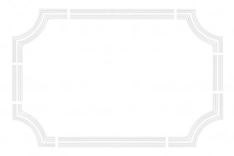 Wand und Deckenumrandung Fries Spiegel Bilderrahmen Stuck Dekor stoßfest AD341