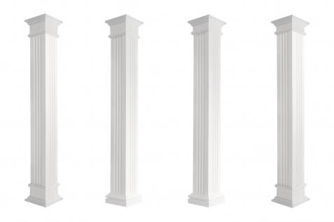 Säulen eckig Fassade teils kanneliert Stuck Set Auswahl versch. Größen LC