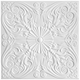 1 qm Deckenplatten Polystyrolplatten Stuck Decke Dekor Platten 50x50cm Nr.76 - Vorschau 2