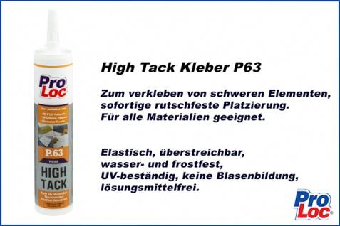 1 Kartusche Montagekleber High Tack Baukleber hohe Haftung frostfest ProLoc P63 - Vorschau 2