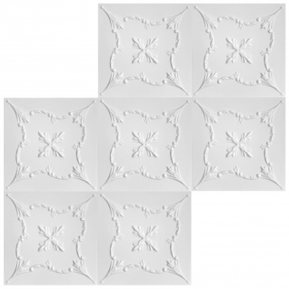 1 qm Deckenplatten Polystyrolplatten Stuck Decke Dekor Platten 50x50cm Nr.72 - Vorschau 3