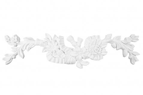 1 Ornament Dekorelement PU Stuckdekor Innen Wanddekor stoßfest 410x110mm, W855