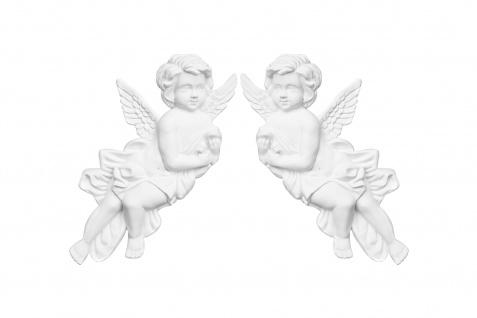 Ornament Relief Stuck Dekor Verzierung Barock Kunststoff PU 173x328mm G2334 L/R