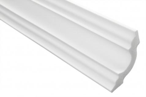2 Meter Stuckleiste XPS Zierprofil Eckleiste stabil weiß Marbet 50x50mm E-14